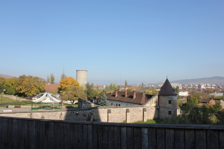 The view of Huneadoara from Corvin Castle